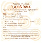 AS220's 4th Annual Fools Ball Sponsors Reception and Dinner at The Big Nazo Studio