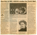 Gen-Xer at RIC; AS220 readies for Fool's Ball