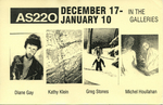 AS220: In the Galleries December 17, 1998- January 10, 1999