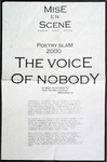 Poetry Slam 2000: The Voice of Nobody