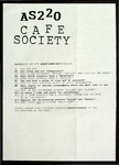 AS220 Cafe Society Questionnaire by Peter John Boyle