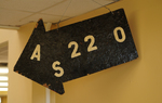 Original AS220 Outdoor Sign by Umberto Crenca