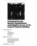 A Proposal for the Historic Rehabilitation and Adaptive Re-use of the Lederer-Packard Building
