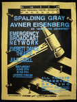 Spalding Gray, Avner Eisenberg, Emergency Broadcast Network and Everett Dance Theatre (June 5, 1993, Event Poster)