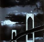 Newport Bridge and Moon
