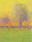 Yellow Halftone Treescape