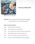 Francisco Hernandez [Biography on Artistic Career]