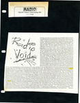 Radio Void: Winter, Spring, 1990