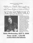 Suzan Shown Harjo: Who's Still Struggling with Human Rights in 2008 and Why? (2008)