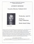 Dialogue on Diversity Spring Speaker: Anthony Romero (2002)