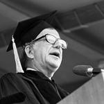 Albert Shanker, Graduate Commencement Speaker, 1980