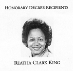 Reatha Clark King, Commencement Speaker, 1988
