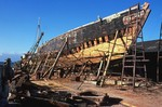 Rebuilding of the Ernestina