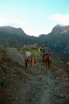 Dirt Road; Men on Donkey's