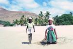 Children on Beach at Tarrafal, Santiago