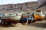 Boats along the waterfront of Tarrafal Bay