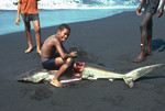 Young Man with Shark