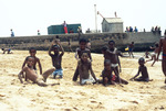 Children Posing in the Sand