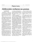 Adolescentes recitaron sus poemas by Tatiana Pina
