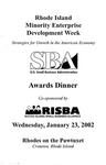 Rhode Island Minority Enterprise Development Week Strategies for Growth in the American Economy Awards Dinner