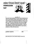 New York City Trip Permission Slip