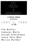 Art Youth & rehabilitation: A Topical Forum and discussion by AS220