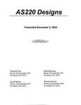 AS220 Designs Presented December 8, 2005