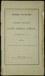 Rhode Island Normal School Catalog, 1860 by Rhode Island State Normal School
