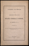 Rhode Island Normal School Catalog, 1863 by Rhode Island State Normal School