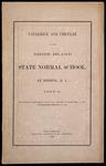 Rhode Island Normal School Catalog, 1863