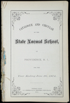Rhode Island Normal School Catalog, 1874 by Rhode Island State Normal School