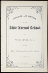 Rhode Island Normal School Catalog, 1875