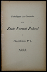 Rhode Island Normal School Catalog, 1895