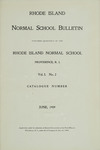 Rhode Island Normal School Catalog, 1909 by Rhode Island College