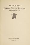 Rhode Island Normal School Catalog, 1912