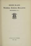 Rhode Island Normal School Catalog, 1915