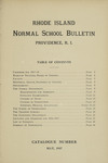Rhode Island Normal School Catalog, 1917 by Rhode Island College