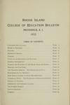 Rhode Island College of Education Bulletin, 1923 by Rhode Island College