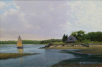 Waterfront House with Sailboat