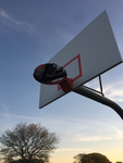 Blocked-off basketball hoop by Aryanna Pinheiro Machado