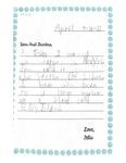 Dispatches from Kindergarten Felix by Mrs. Adler's 1st Grade Class, Henry Barnard Laboratory School