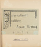 International Institute Annual Meeting 1962