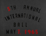 5th Annual International Ball May 7, 1965 by International Institute of Rhode Island