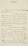 Letter to Henry Bede, 1890-09-20 by Joseph Peace Hazard