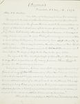 Letter to Mrs. F.W. Masters, 1891-02-08 by Joseph Peace Hazard