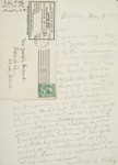 Letter to Joseph Peace Hazard, 1889-05-09