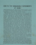 How to Try Remarkable Experiments at Home, ca. 1870 by Joseph Peace Hazard