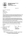 Letter to Rose Cantu requesting strategic plan by George McDonough and Jackie Ascrizzi