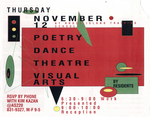 THURSDAY NOVEMBER 12 AT RHODE ISLAND TRAINING SCHOOL POETRY DANCE THEATRE VISUAL ARTS BY RESIDENTS