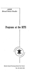 Programs at the RITS